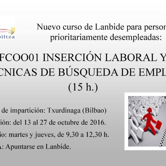 Curso de Inserción laboral y técnicas de búsqueda de empleo (15h)
